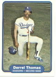1982 Fleer 26 Derrel Thomas