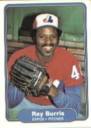 1982 Fleer 184 Ray Burris