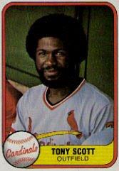 1981 Fleer #531 Tony Scott ( Baseball Cards )