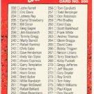 1990 Donruss 300A Checklist 232-333