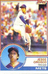 1983 Topps #369 Jesse Orosco - New York Mets (Baseball Cards)