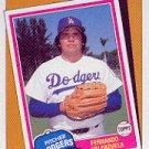 1986 Topps 401 Fernando Valenzuela/TBC '81