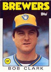 1986 Topps 452 Bob Clark