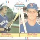 1988 Fleer 644 Greg Myers/Greg Tabor RC