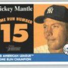 2007 Topps Heritage 1958 Home Run Champion MMHRC15 Mickey Mantle