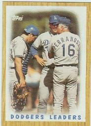 1987 Topps 431 Dodgers Team/(Mound conference)