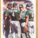 1987 Topps 456 A's Team/(Mound conference)