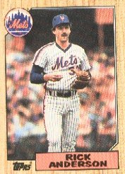 1987 Topps 594 Rick Anderson