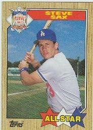 1987 Topps 596 Steve Sax AS