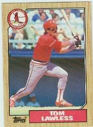 1987 Topps 647 Tom Lawless