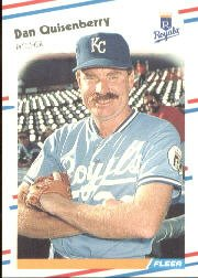 1988 Fleer 267 Dan Quisenberry