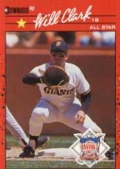 1990 Donruss 707B Will Clark AS/(All-Star Game/Performance)