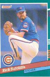 1991 Donruss 462 Rick Sutcliffe