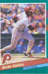 1991 Donruss 466 Ricky Jordan