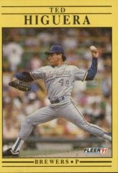 1991 Fleer 586 Ted Higuera