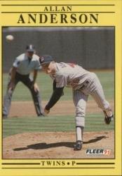 1991 Fleer 603 Allan Anderson