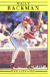 1991 Fleer Update #106 Wally Backman