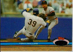 1991 Stadium Club #41 Tony Phillips