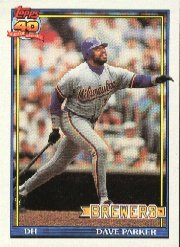 1991 Topps 235 Dave Parker