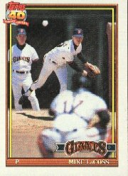 1991 Topps 242 Mike LaCoss
