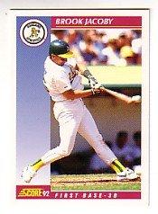 1992 Score #577 Brook Jacoby