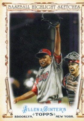 2011 Topps Allen and Ginter Baseball Highlight Sketches #BHS9 Edwin Jackson