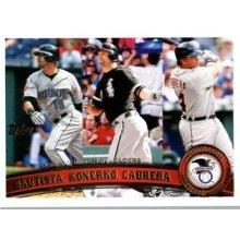 2011 Topps #202 Jose Bautista/Paul Konerko/Miguel Cabrera LL