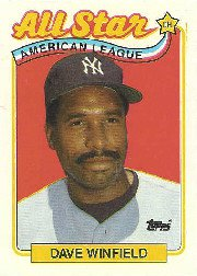 1989 Topps 407 Dave Winfield AS
