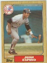 1987 Topps #239 Juan Espino