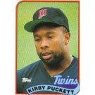 1989 Topps 650 Kirby Puckett