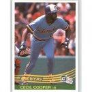 1984 Donruss #351 Cecil Cooper