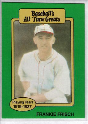 1987 Hygrade All-Time Greats #19 Frankie Frisch