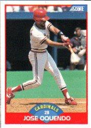1989 Score #529 Jose Oquendo