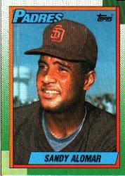 1990 Topps 353 Sandy Alomar Jr./(Not listed as Jr./on card front)