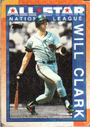 1990 Topps 397 Will Clark AS