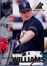 1997 Pinnacle Inside #111 Matt Williams
