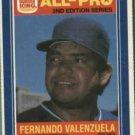 1987 Burger King All-Pro #20 Fernando Valenzuela