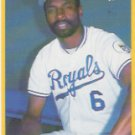 1990 Fleer 123 Willie Wilson