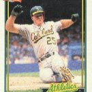 1991 Topps 270 Mark McGwire COR/(1987 Slugging Pctg./listed as .618)