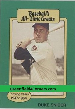 1987 Hygrade All-Time Greats #41 Duke Snider