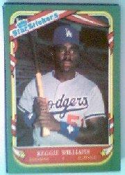 1987 Fleer Star Stickers #124 Reggie Williams