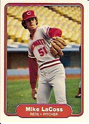 1982 Fleer 72 Mike LaCoss