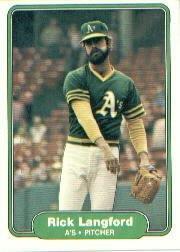 1982 Fleer 98 Rick Langford