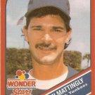 1990 Wonder Bread Stars #6 Don Mattingly