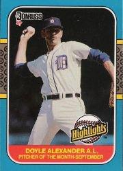 1987 Donruss Highlights #52 Doyle Alexander