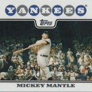 2008 Topps #7 Mickey Mantle