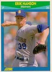 1990 Score Rising Stars #85 Erik Hanson
