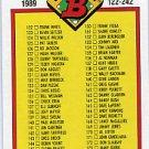 1989 Bowman #482 Checklist 122-242
