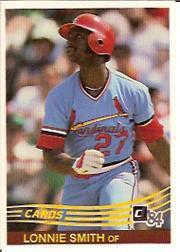 1984 Donruss #231 Lonnie Smith