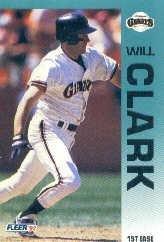 1992 Fleer #631 Will Clark